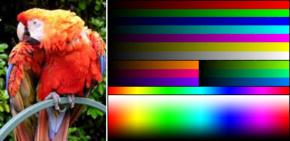 Dithered 4444 color image with sRGB correction